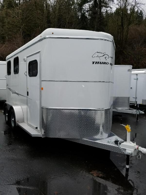 2018 Thuro-Bilt Liberty w/ Double Rear Doors Slant 2-Horse Trailer