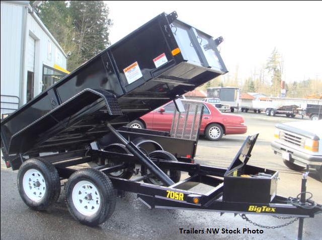 2018 Big Tex 70SR 5x10 Tandem Axle Single Ram Dump Trailer