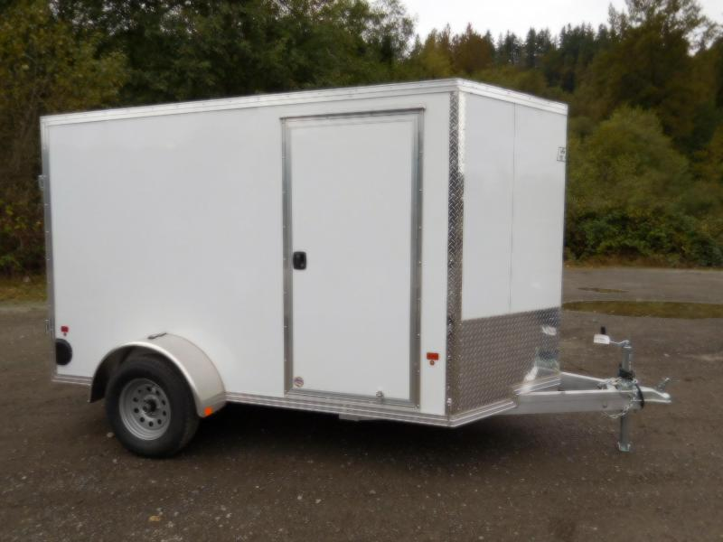 2019 EZ Hauler 6x10 All-Aluminum Enclosed Cargo Barn Doors Trailer