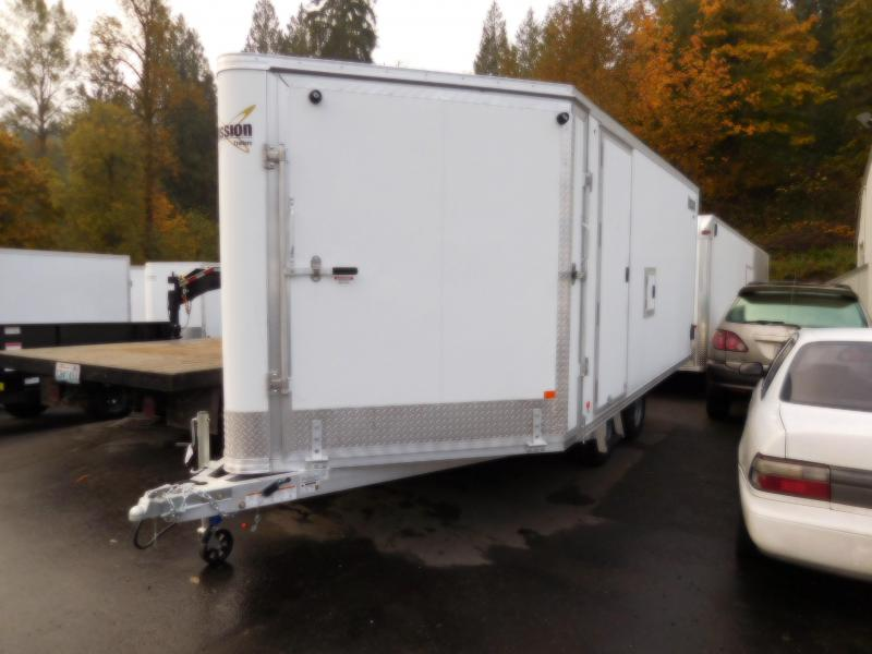 2019 Mission V-Nose MES 101x16 All-Aluminum Enclosed Snowmobile Trailer