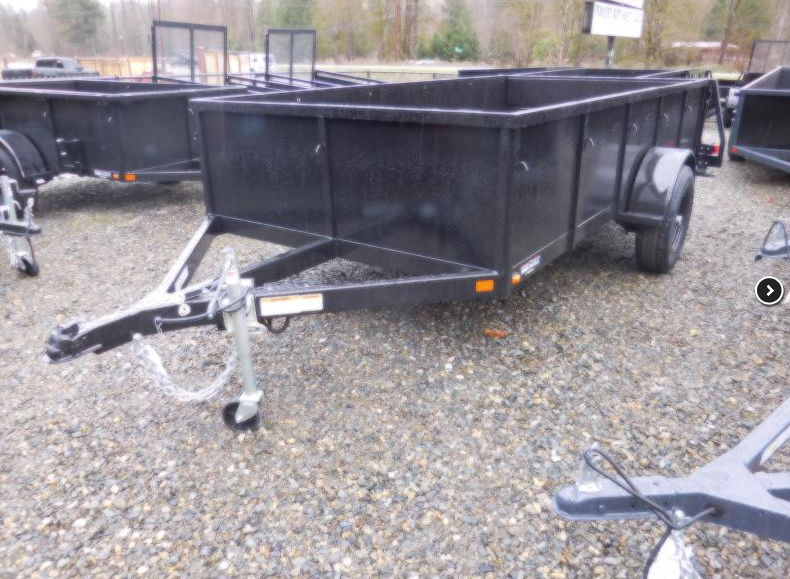 2018 Iron Eagle 6x12 Voyager Series Utility Trailer - Split Ramp Tailgate