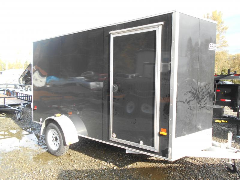 Used 2013 Mission 6x12 Duralite All Aluminum Cargo / Enclosed Trailer