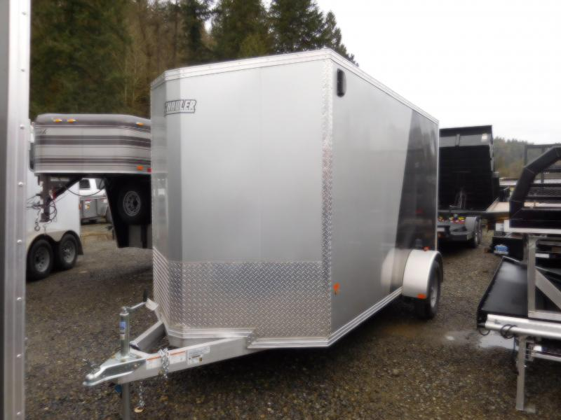 2018 EZ Hauler 6x12 All-Aluminum Enclosed Cargo Trailer - Rear Ramp
