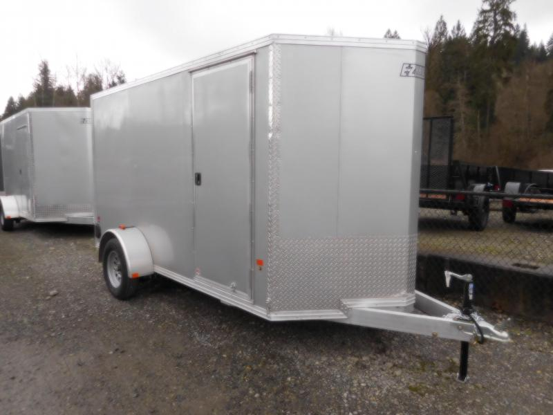 2018 EZ Hauler 6x12 All Aluminum Enclosed Cargo Trailer with Rear Ramp
