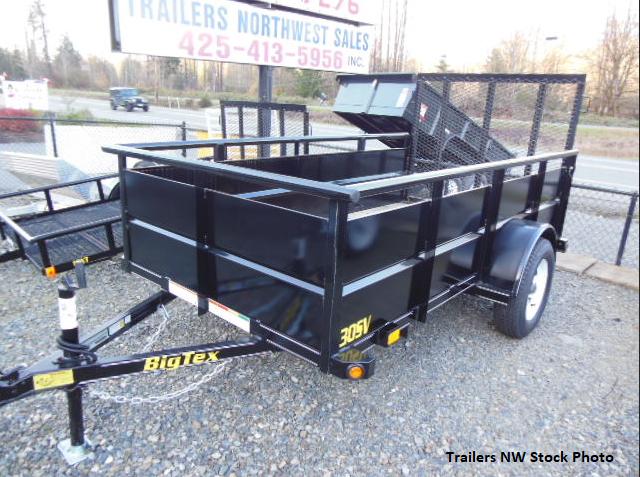 2017 Big Tex 30SV 5x10 Utility Trailer with Rear Landscape Ramp