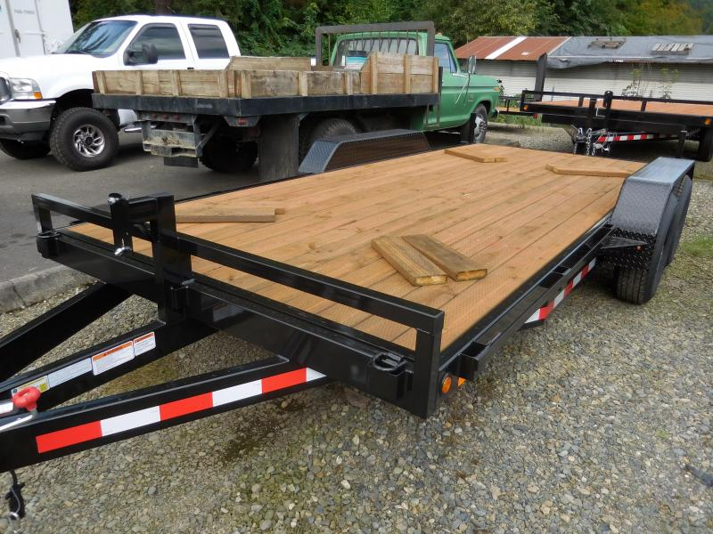 2016 Iron Eagle 7x16 10K Series 4 HD d-rings Flatbed Trailer