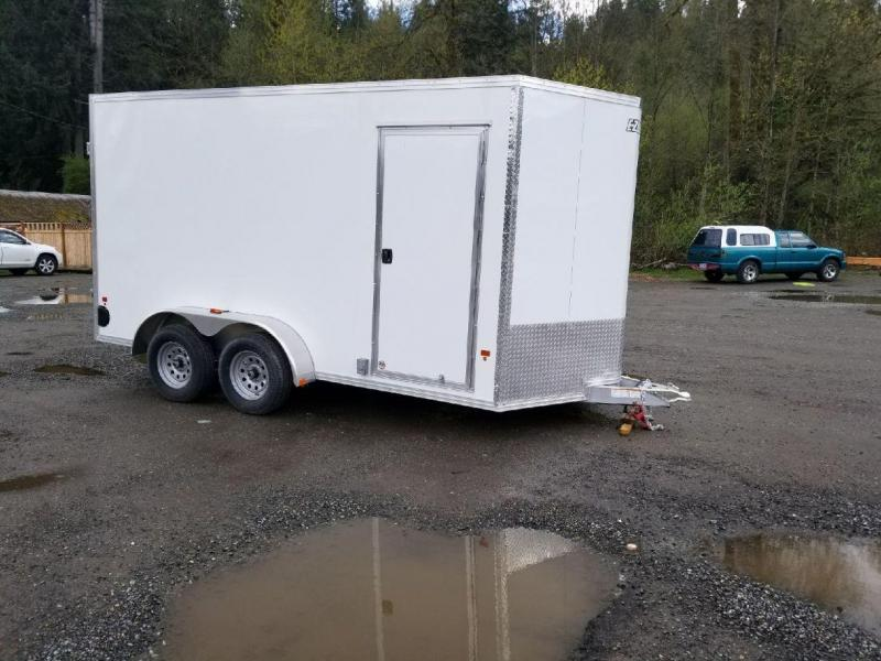 2018 EZ Hauler 7x14 All-Aluminum Enclosed Cargo Trailer with Power Pkg
