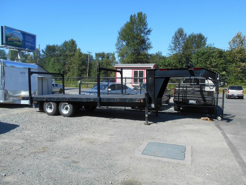 2007 ABU Heavy Duty Gooseneck Flatbed Equipment Trailers