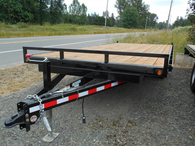 2019 Iron Eagle 8.6x20 Titan series 14K 7ft Flatbed Trailer