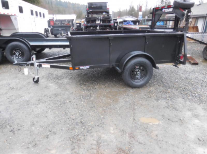 2018 Iron Eagle 5x8 Voyager Utility Trailer w/ Stake Pockets & Split Gate Combo
