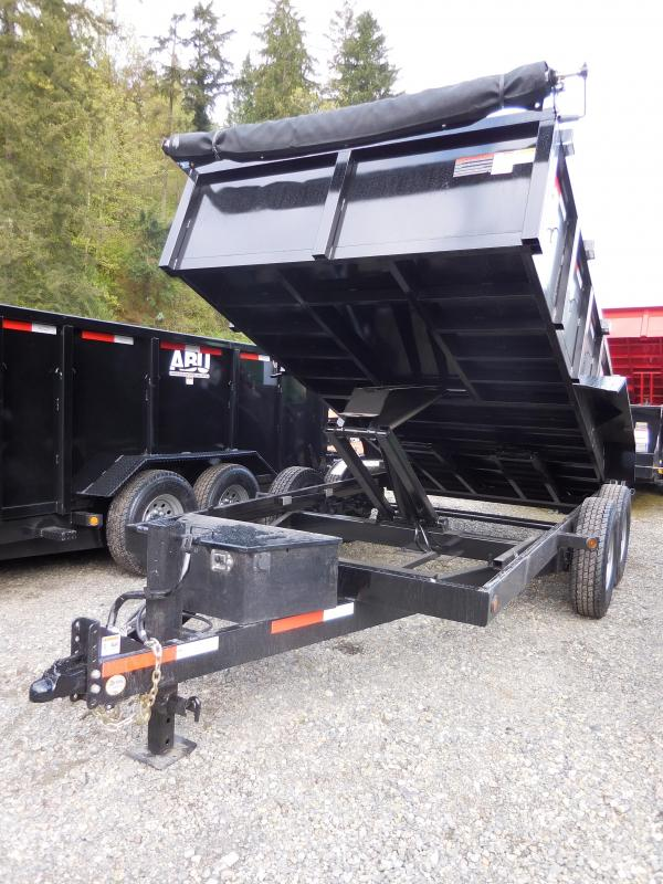 2019 ABU 7x14 HD 14K Industrial Scissor Lift Dump Trailer