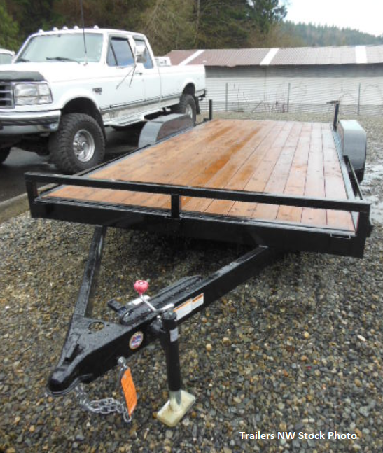 2018 Iron Eagle 7000 Series 7x16 Flatbed Trailer with 5