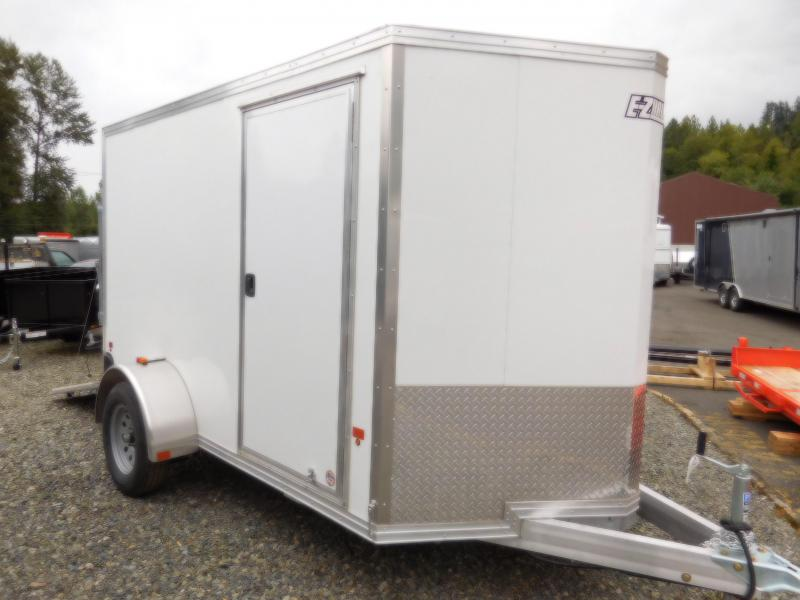2017 EZ Hauler Duralite 6x10 All Aluminum Enclosed Cargo Trailer with Rear Ramp