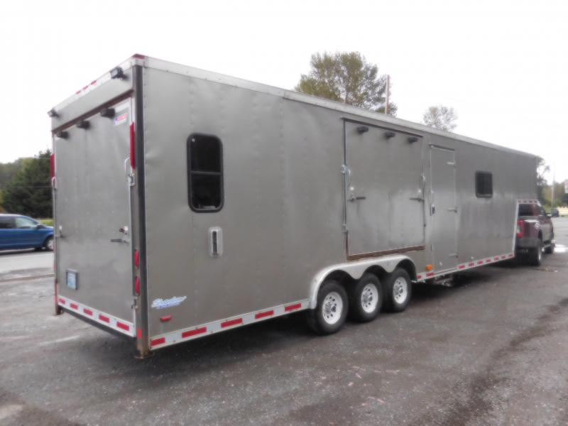 Used Gooseneck 2003 Pace American 8.5x30 Enclosed Multi-Purpose Trailer