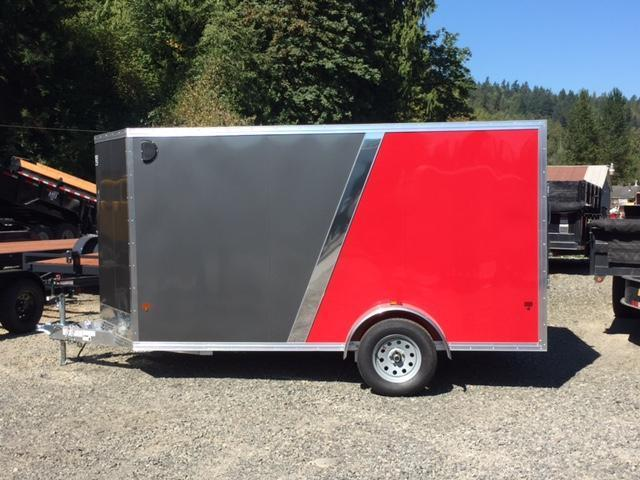 2017 EZ Hauler 6x12 All Aluminum Enclosed Cargo Trailer with Rear Ramp