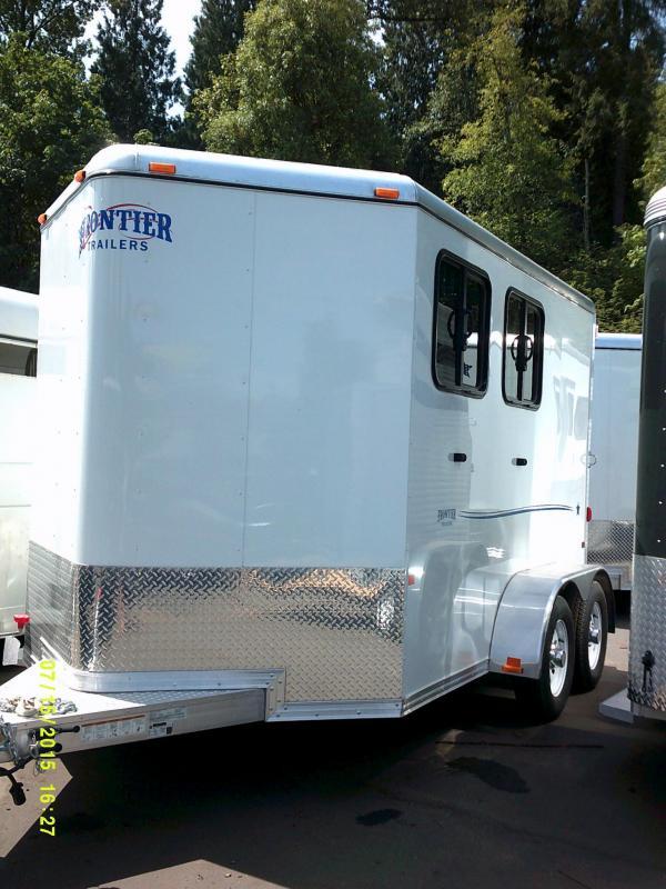 2015 Frontier Strider 2 Horse Trailer