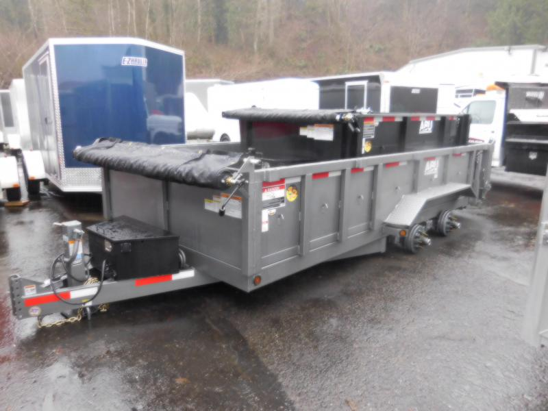 2018 ABU 7x16 14K Tandem Axle Dump Trailer