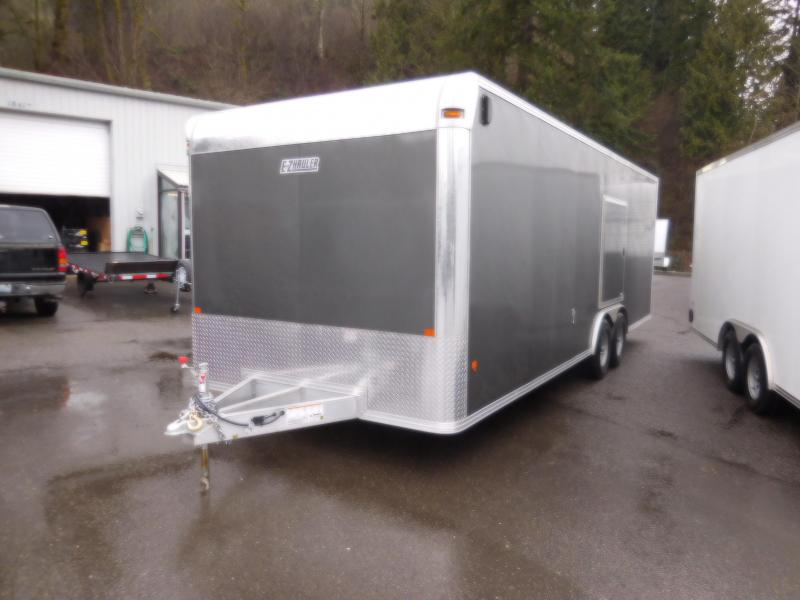 2018 EZ Hauler 8x24 All Aluminum Enclosed Car Hauler Trailer