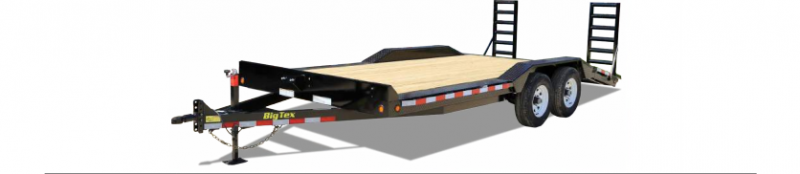 2019 Big Tex Trailers 83X20 10K D/O Fender Flatbed Flatbed Trailer