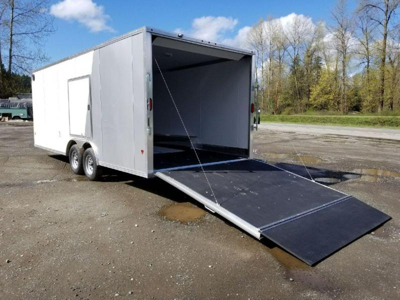 2018 EZ Hauler 8x22 All Aluminum Car Hauler Enclosed Cargo Trailer
