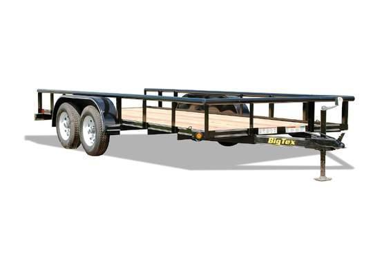 2015 Big Tex 6.5x16 45SS Flatbed Trailer