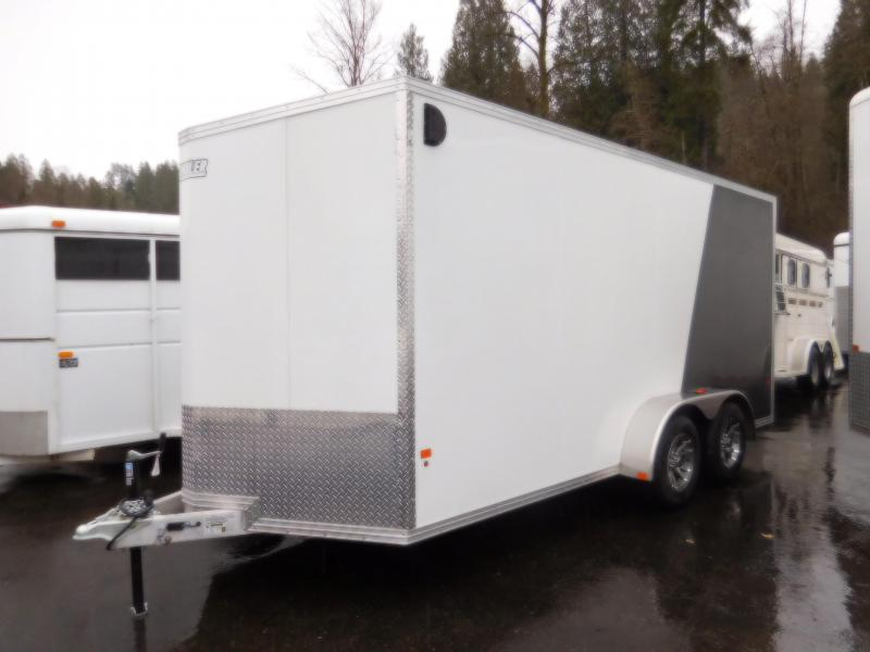2018 EZ Hauler 7x16 Enclosed Cargo Trailer with Rear Ramp
