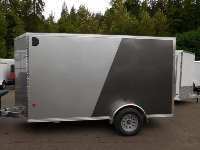 2017 EZ Hauler 6x12  All Aluminum Cargo Trailer with Rear Ramp