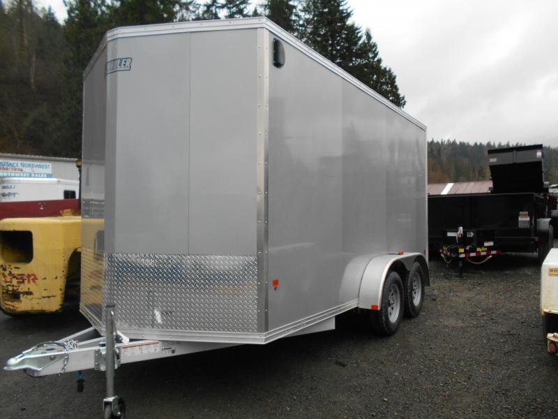 2015 Mission 7x14 Duralite All Aluminum Cargo / Enclosed Trailer
