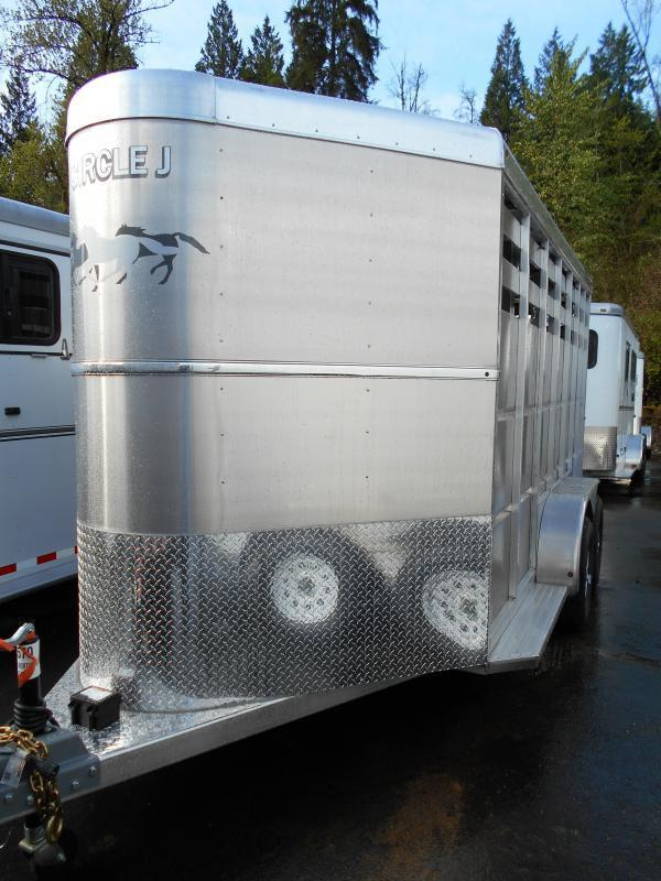 2014 All Aluminum Circle J Mustang 2 Horse Trailer