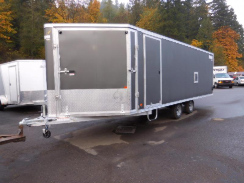 2019 Mission VNose MES 101x22 All-Aluminum Drive In-Drive Out Snowmobile Trailer