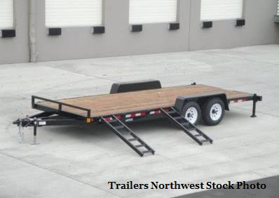 2018 Iron Eagle 7x20 14K Series Flatbed Trailer with Ramps