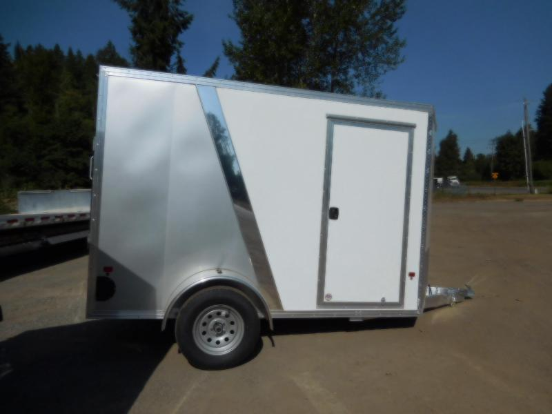 2019 EZ Hauler 6x10 All-Aluminum Enclosed Cargo Trailer w/Rear Ramp