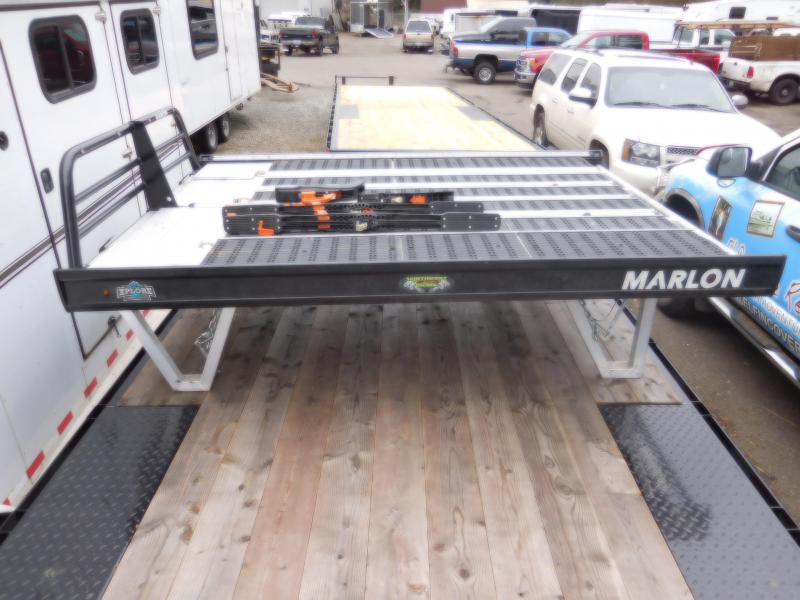 2015 Marlon Trailers Open Sled Deck Snowmobile Trailer