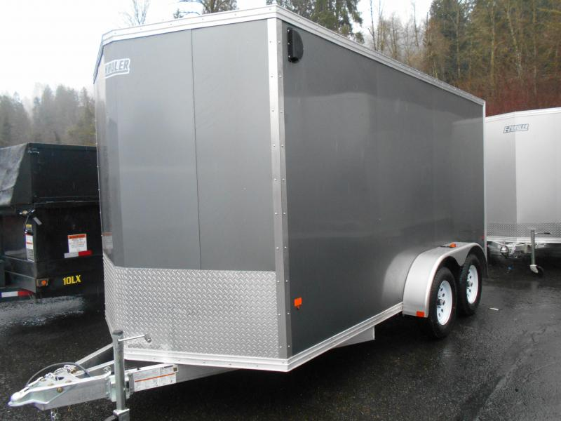 2017 Ez-Hauler 7x12 Tandem Axle Cargo / Enclosed Trailer