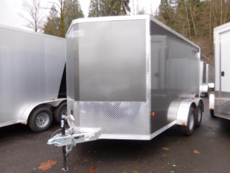 2017 Ez-Hauler 7x12 Tandem Axle Cargo Trailer with Rear Ramp