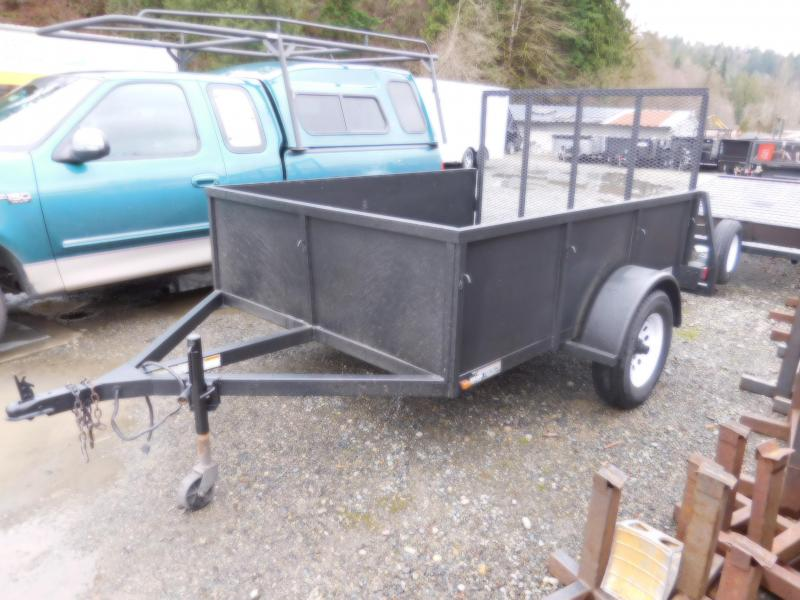 2008 Iron Eagle 6x8 Voyager with Rear Landscape Ramp Utility Trailer