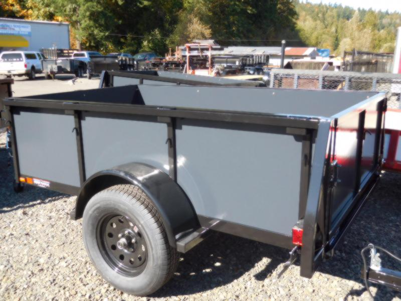 2017 Iron Eagle Voyager 5x8 Standard Swing Gate Utility Trailer
