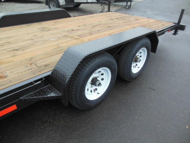 2014 Iron Eagle 7x18 10K Series 4 HD d-rings Flatbed Trailer