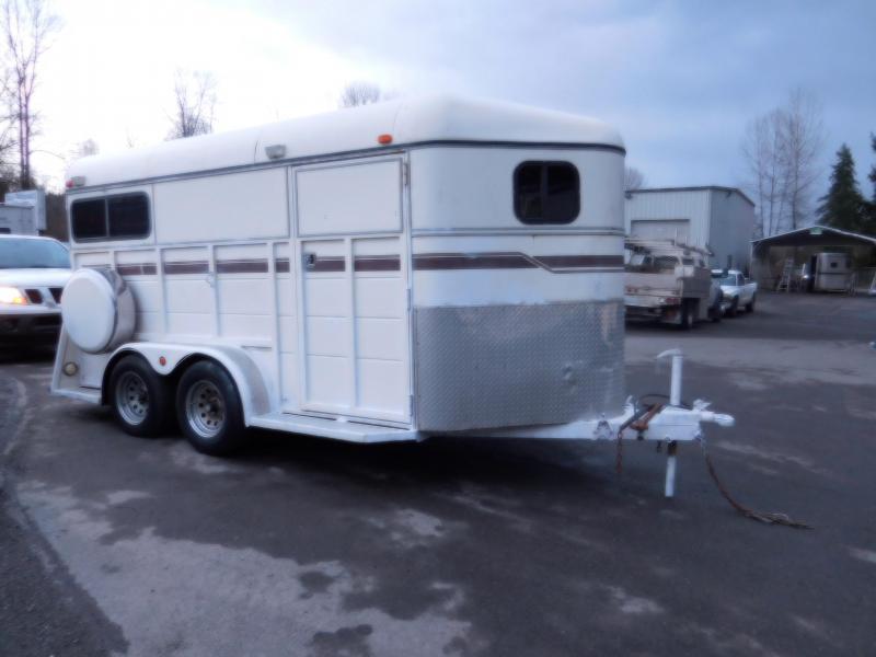 1991 Morgan Built 3 Horse Enclosed Slant Trailer