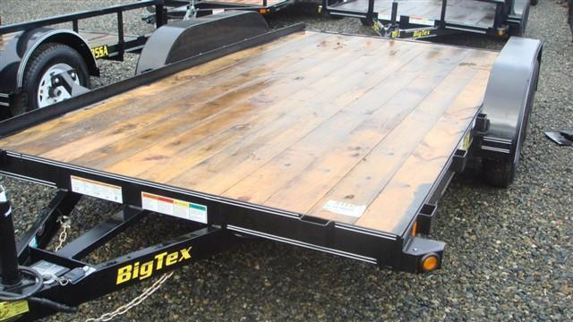 2017 Big Tex Trailers 7x16 60CH Flat Bed Trailer