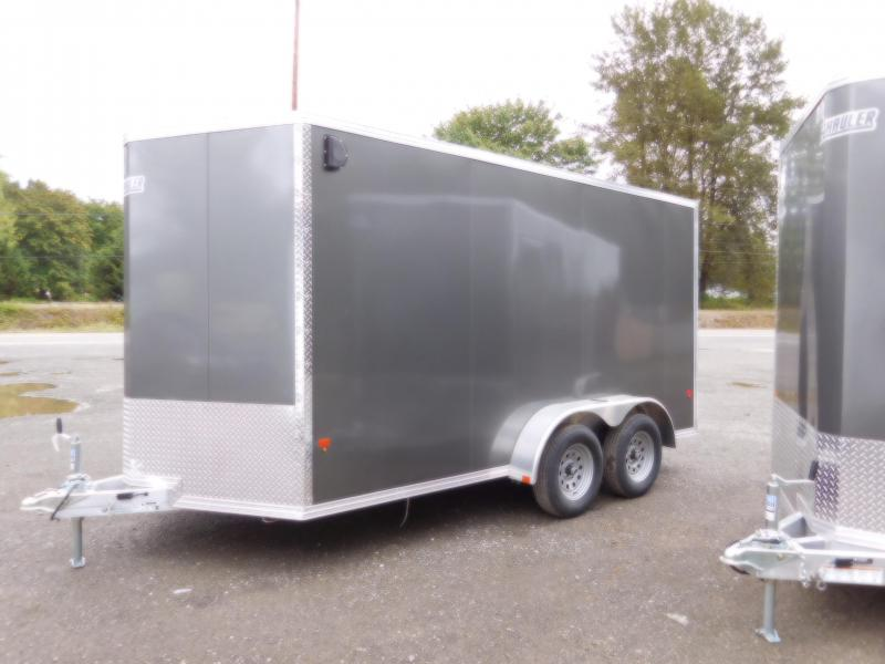 2019 EZ Hauler 7x14 V-Nose Enclosed Cargo Ramp Door Trailer