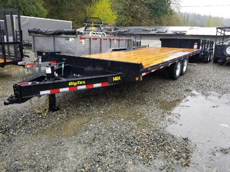 2019 Big Tex 140A-20 Equipment Deckover Flatbed Trailer