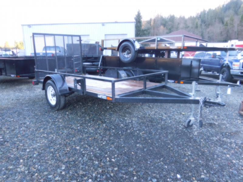 Used 2013 Iron Eagle Economax 5x10 Flatbed Trailer with Rear Landscape Gate