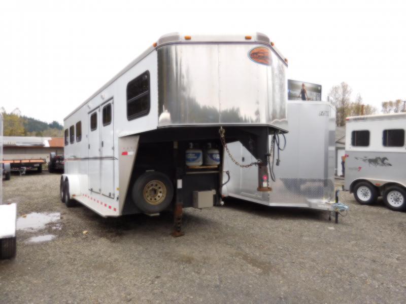 Used 2009 Sundowner 3 Horse Gooseneck Sunlite727 Horse Trailer