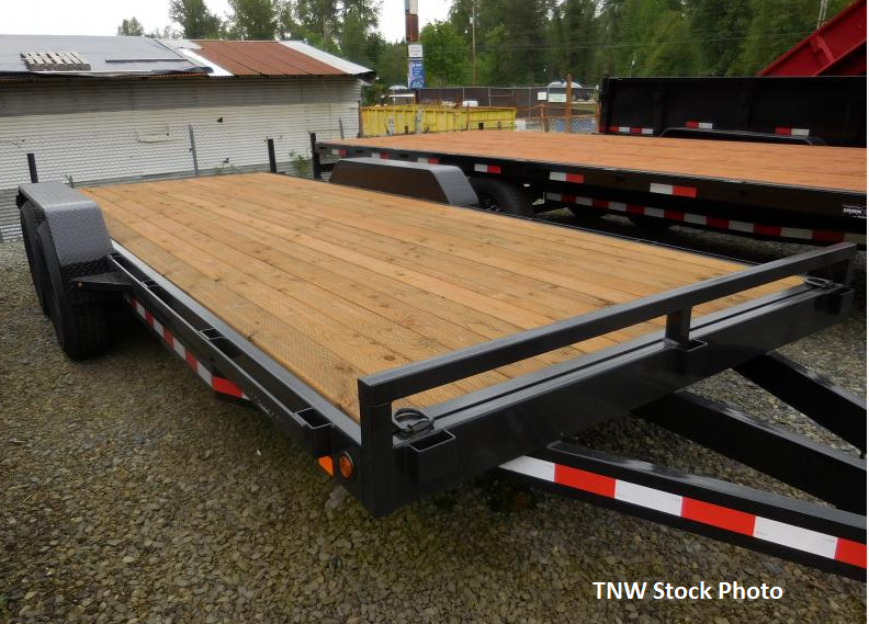 2018 Iron Eagle 14K Series 7x20 Flatbed Equipment Trailer - Ramps Included