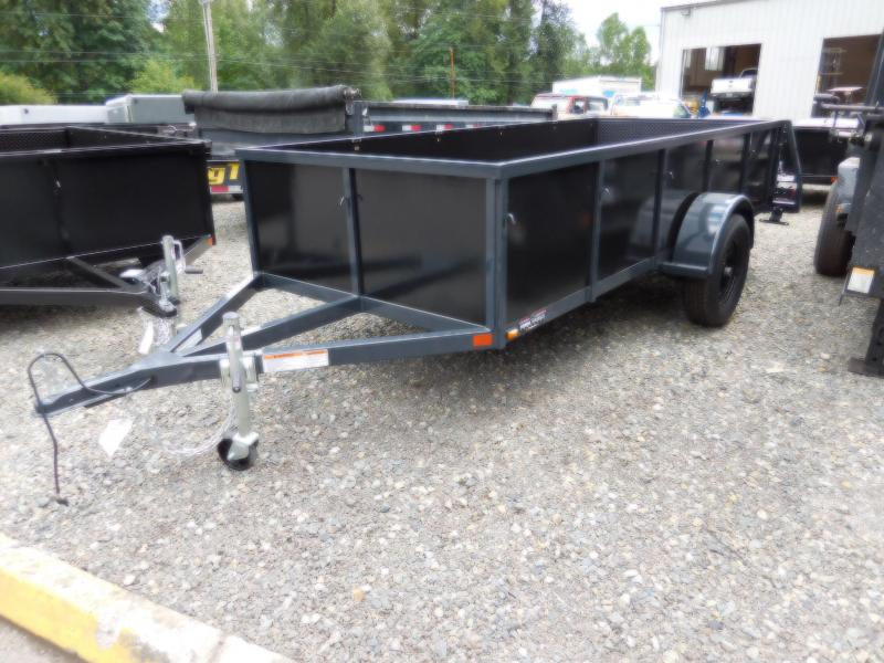 Custom 2018 Iron Eagle 5x12 Voyager Series Utility Trailer  - Split Ramp Tailgate