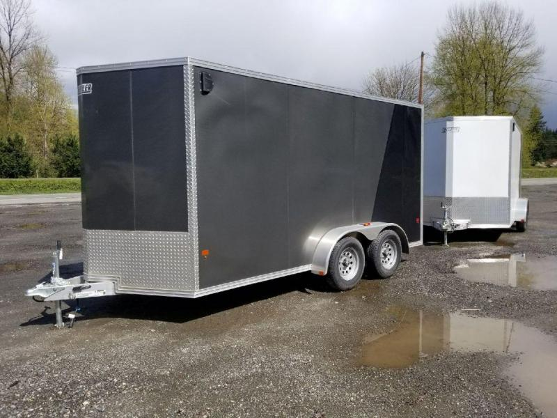 2018 EZ Hauler 7x14 All-Aluminum Enclosed Cargo Trailer - Rear Ramp