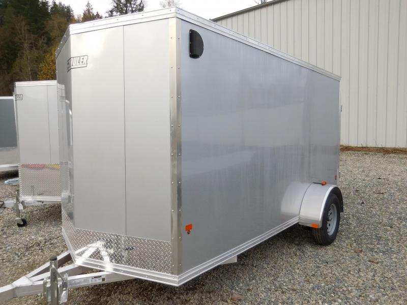 2016 EZ Hauler 6x12 Duralite All Aluminum Enclosed Cargo Trailer with Rear Barn Doors