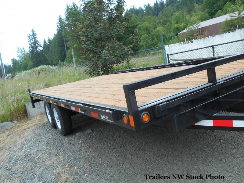 2018 Iron Eagle 8x20 Titan Series 14K Equipment Flatbed Trailer