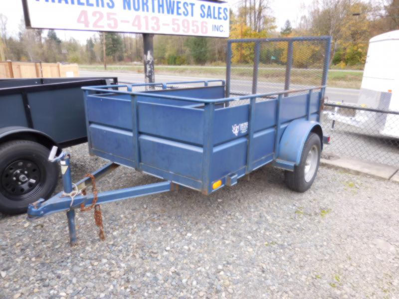 1996 Big Tex 5x8 Utility Trailer with Rear Landscape Ramp